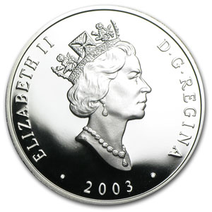 2003 1 oz Silver Canadian $20 FA-1 Diesel Locomotive
